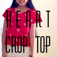 diy heart crop top, diy painted shirt, diy printed t-shirt, lauren banawa