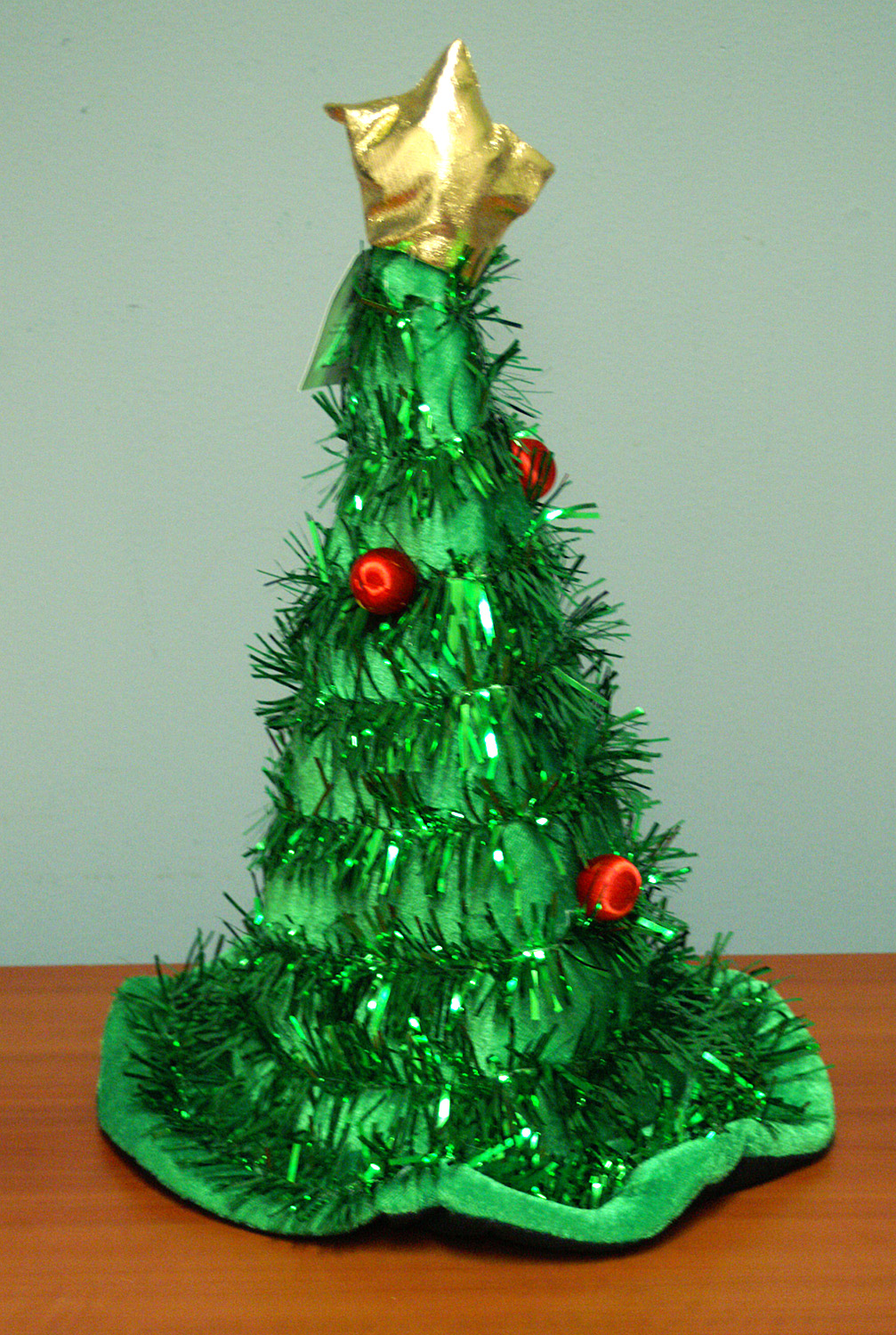 Ben franklin crafts and frame shop ugly sweater party attire green tinsel christmas tree hat solutioingenieria Images