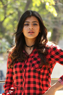 Actress Hebah Patel Stills in Blue Denim Jeans at Nanna Nenu Naa Boyfriends Movie Success Meet  0022.JPG