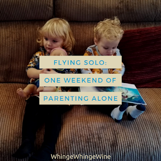 Flying solo: One weekend of parenting alone. It's all about survival.
