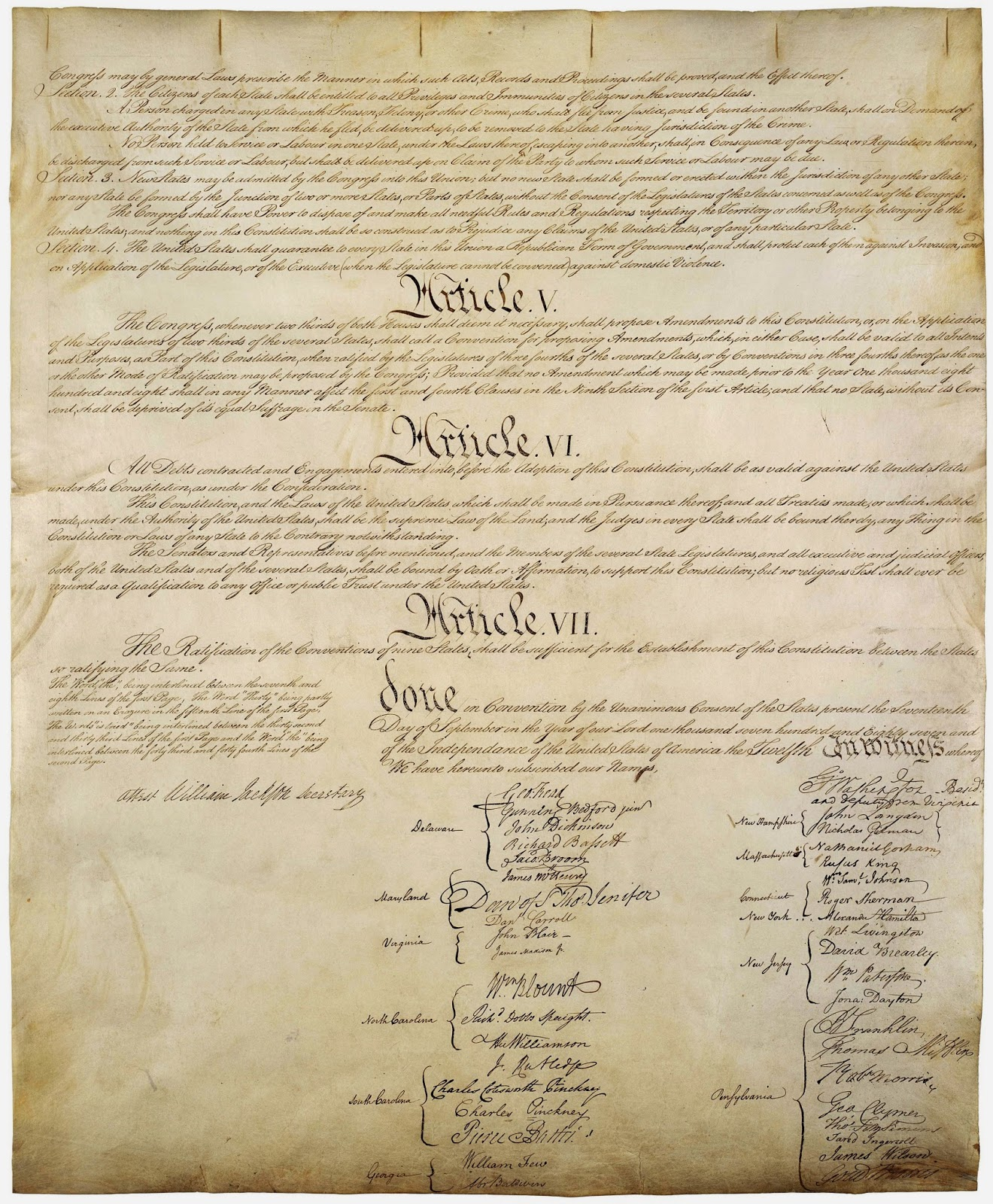 United States Constitution of 1787
