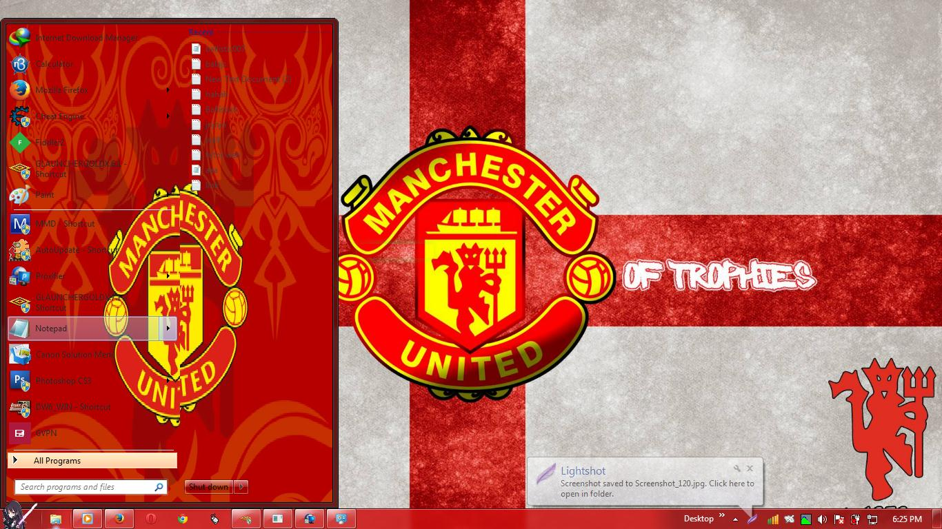 Manchester United Theme Windows 7