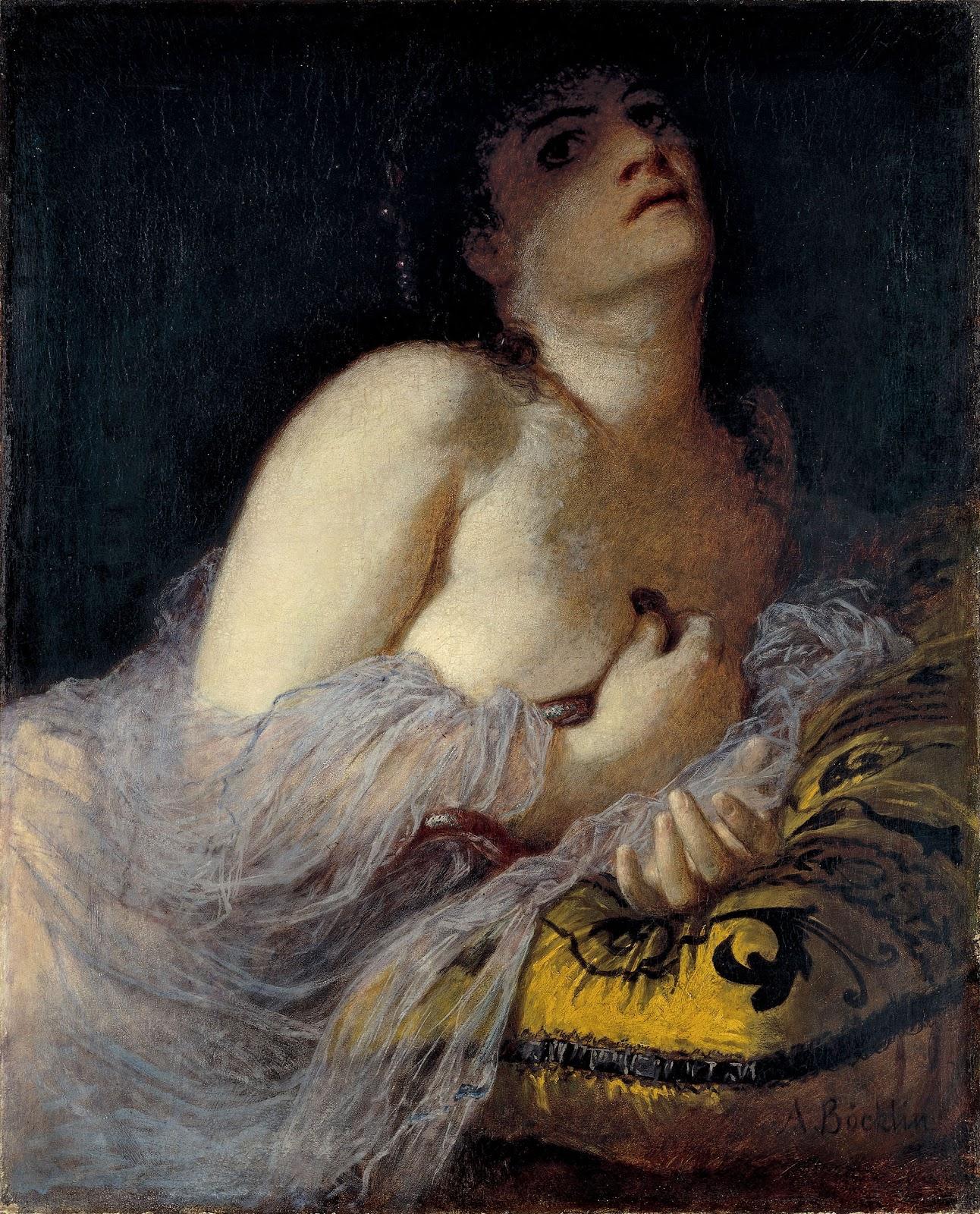 Arnold    C  cklin     Cleopatra  morente   prima  versione  C