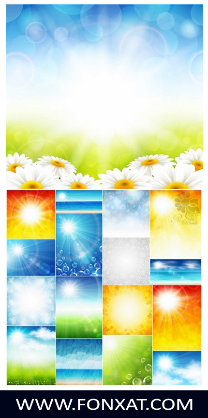 Download vector background of beautiful images of nature