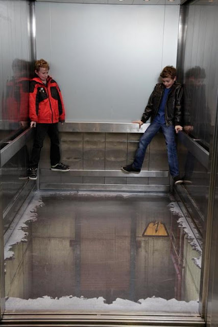 Most Amazing Elevator Optical Illusions.