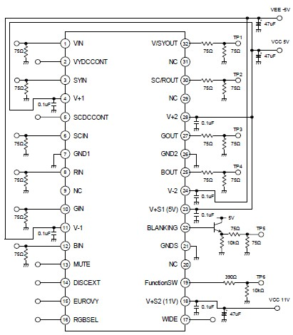 simple 4 channel video amplifier using njm2582 circuit diagram rh circuitsdiagramlab blogspot com Simple Amplifier Layout Guitar Amplifier Circuit TDA7052