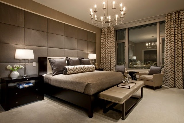 elegant modern curtain designs and ideas for decorating home, Bedroom decor