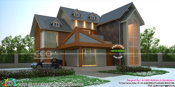1779 sq-ft western style sloping roof home
