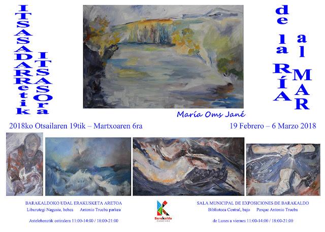 Cartel de la exposición de María Oms Jané