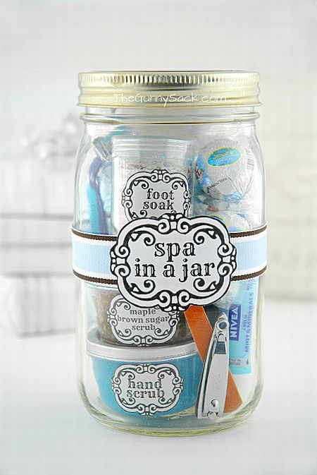 Christmas Gift in a jar - Spa Set