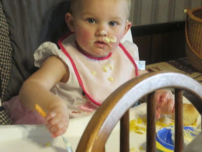 My Grandchildren are a Blessing-Granddaughter enjoying banana pudding
