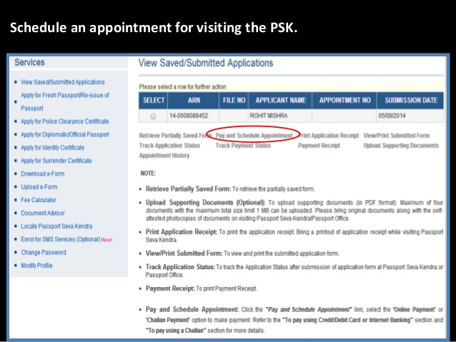 how to delete the submitted application of passport