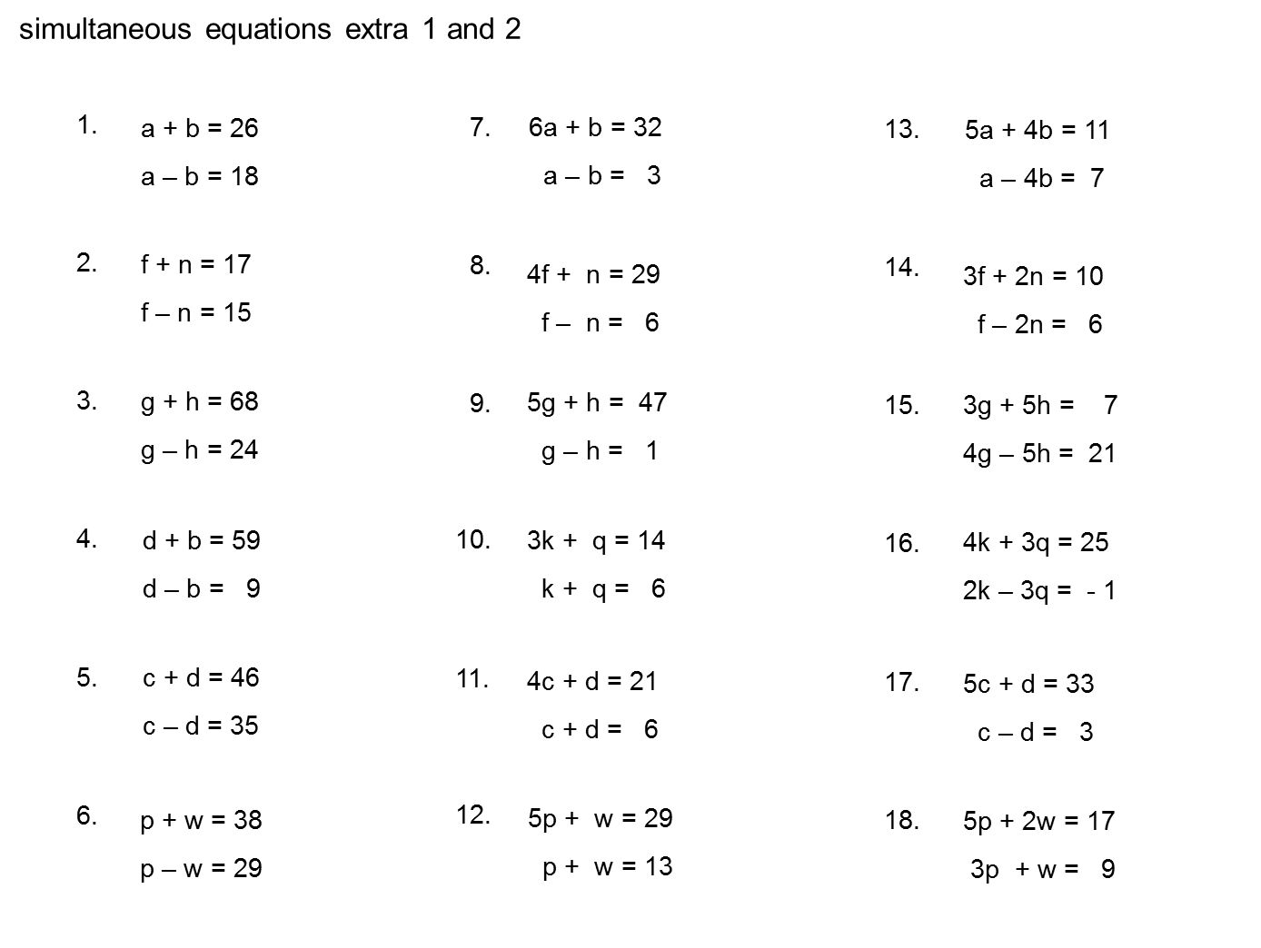 Balancing Equations Worksheet Gcse