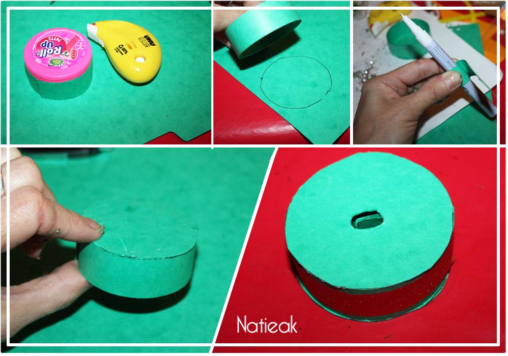 DIY de Noël : le mini sapin à paillettes