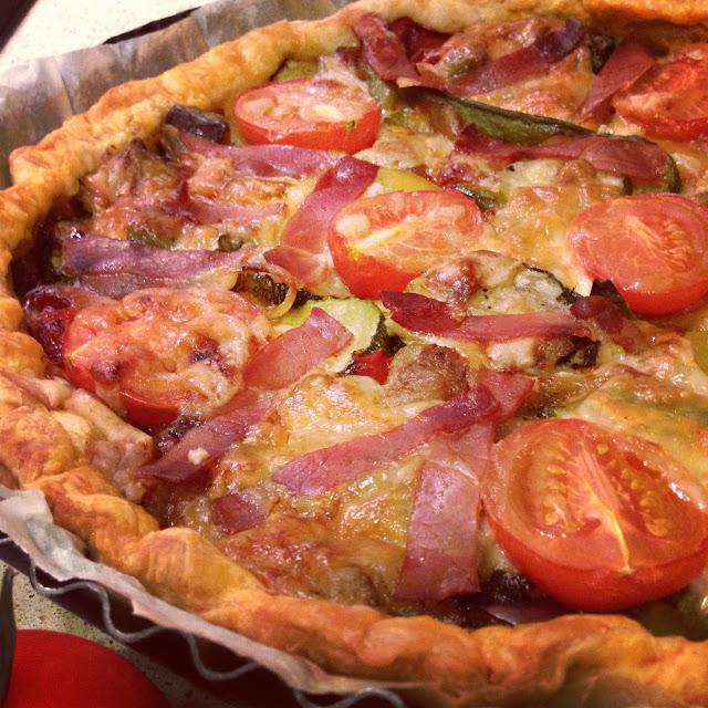 aubergines courgettes poivrons tomates mozzarella parmesan