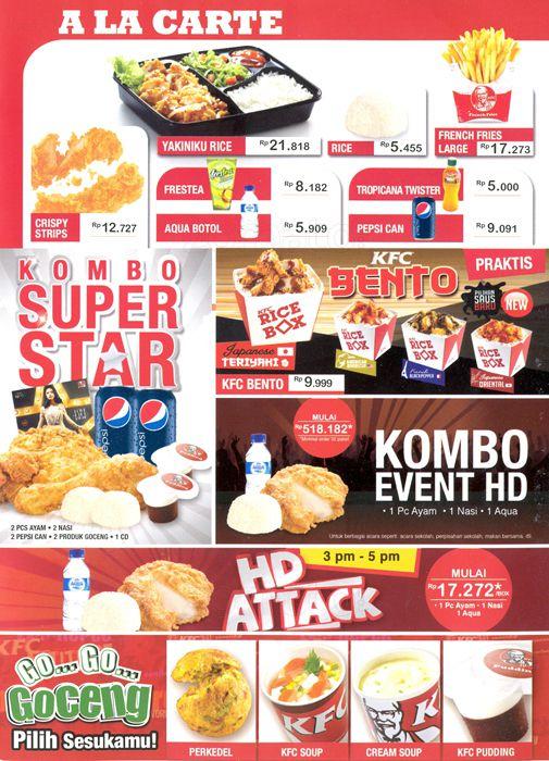 меню kfc с ценами и фото 2016