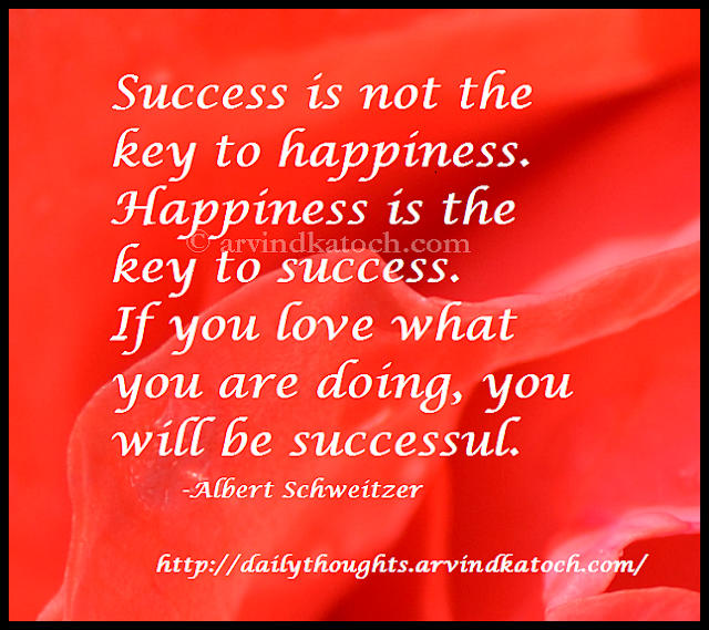 success, happiness, key, Daily Thought, Quote