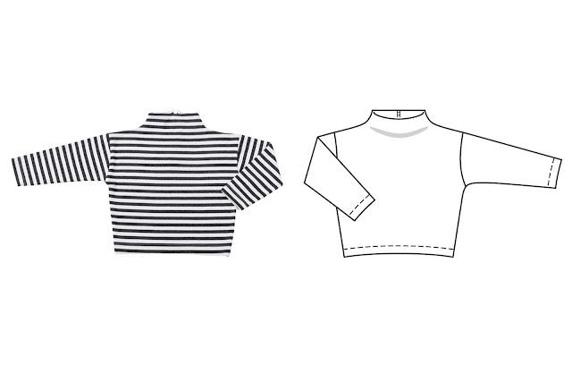 burda styl kasım 2017 kız çocuk tshirt kalıbı