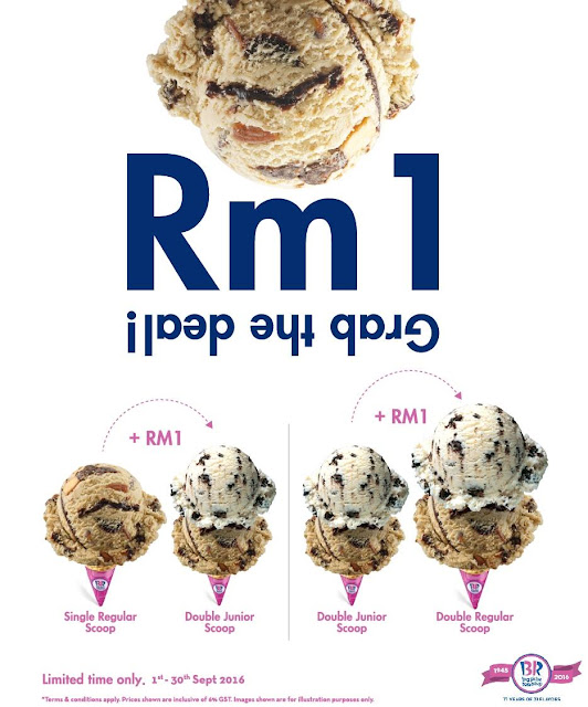 Baskin Robbins RM1 Extra Scoop Ice Cream Deal Promo