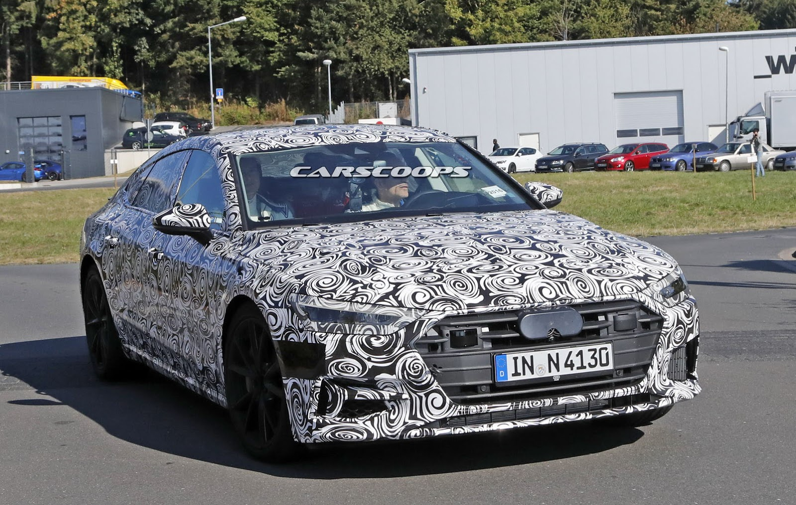 2018 Audi S7 Caught Stretching Out Its Bi Turbo V6 At The