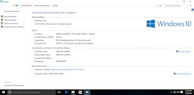 Windows 10 Pro Update Maret 2016 Full Activated