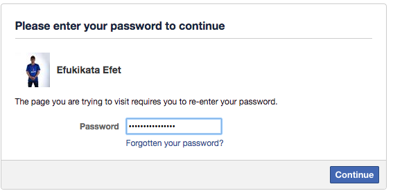 confirm password deactivation