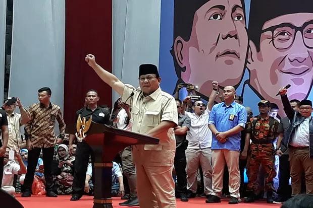 Prabowo Imbau Relawannya Bantu Periksa Daftar Pemilih Tetap