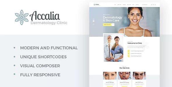 Dermatology Clinic WordPress Theme Free Download Accalia v1.2.0 – Dermatology Clinic WordPress Theme Download