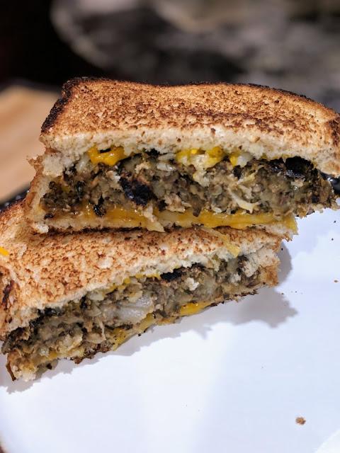 Vegetarian Mushroom Patty Melt