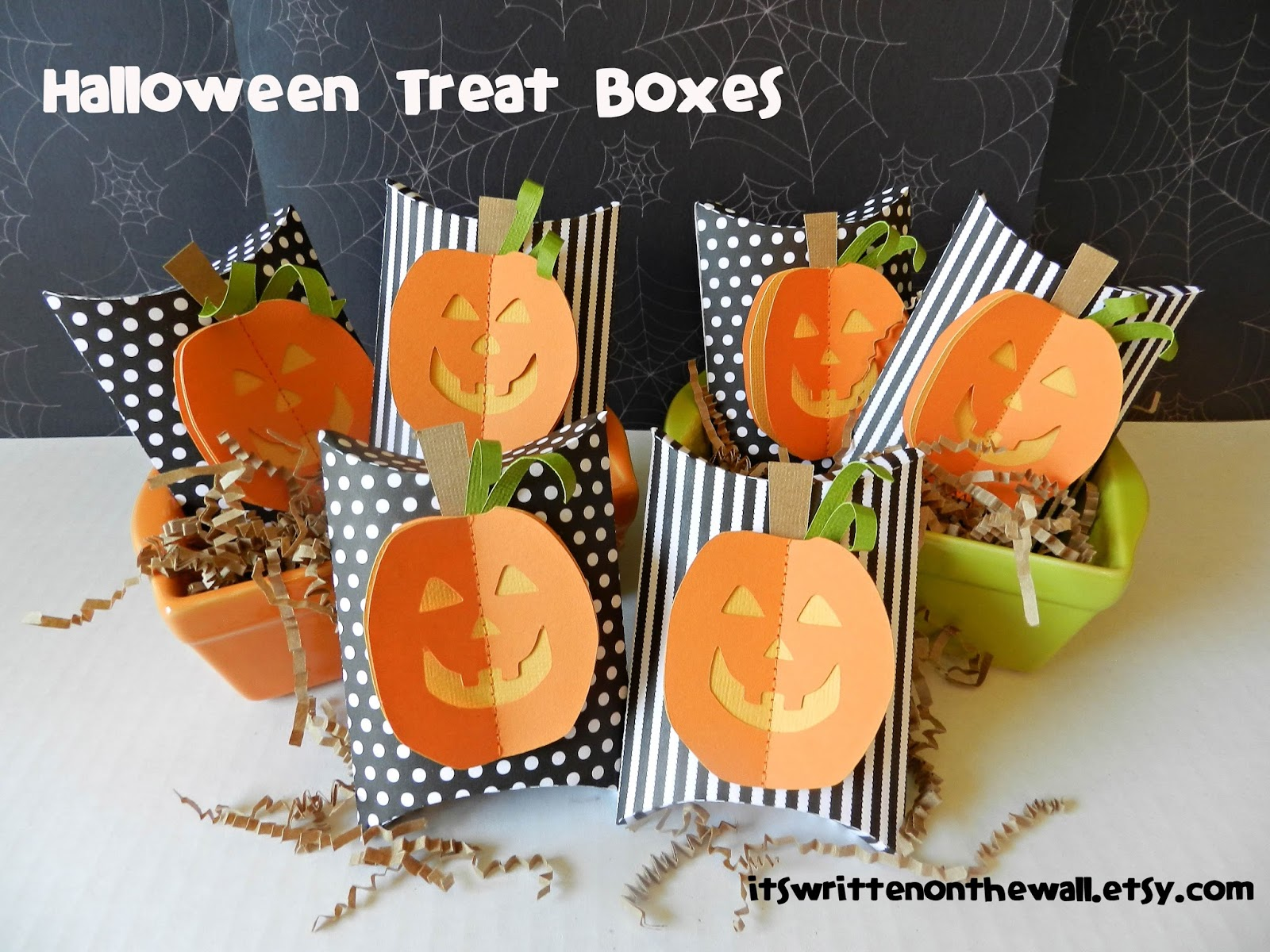 send your halloween party guests home with candy in a 3d pumpkin package excellent party favor or classroom treat or even to had out to your trick or