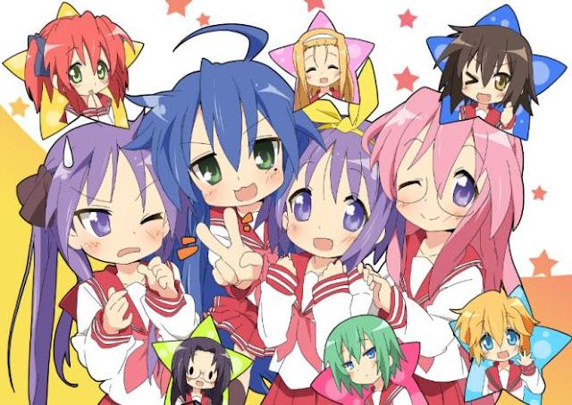 Daftar Anime School Comedy Terbaik dan Terpopuler - Lucky☆Star