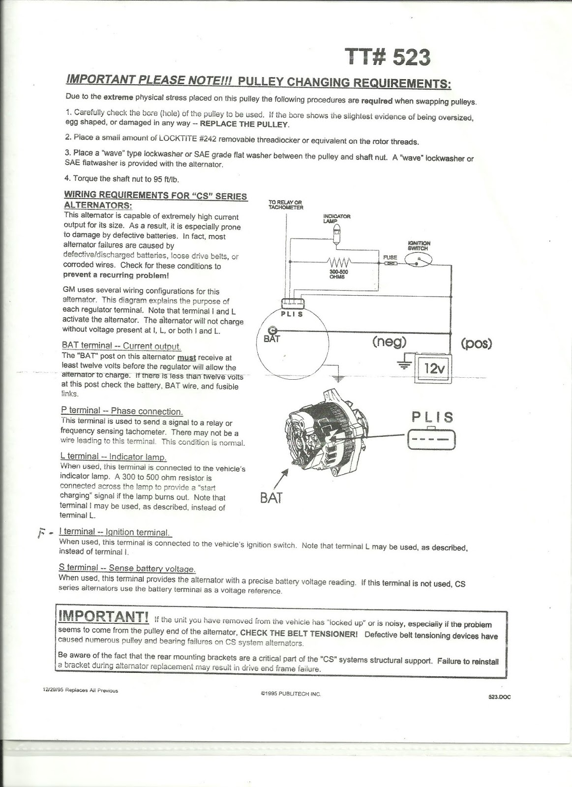 hight resolution of gm cs series alternator wiring