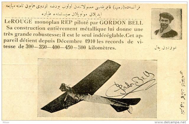 Osmanlı döneminde basılan Gordon Bell resimli hatıra kartpostal