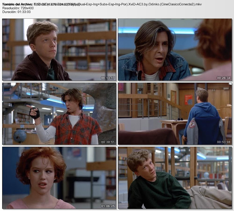 El club de los cinco | 1985 | The Breakfast Club, secuencias de la película