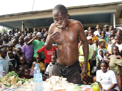 See All The Food This Man Ate To Win N10,000 Cash Prize