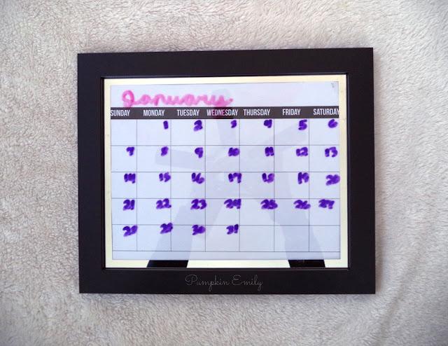 DIY Frame Calendar