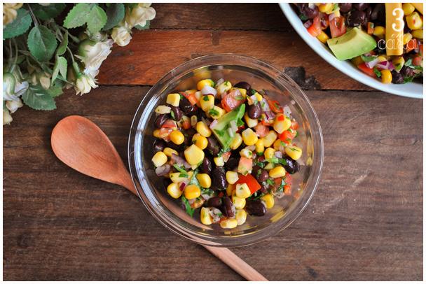 salada mexicana de feijão