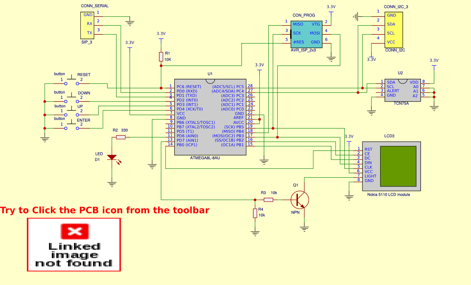 Circuit Simulator Simulador De Circuitos Introduo Youtube Graphical Thermometer Using Atmega8 Tcn75a And 84x48 Lcd From Nokia One User Of Easyeda Created This Project Some Days Ago You Can Try To Convert