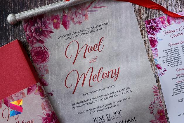 Scroll Type Wedding Invitation With Box Stunro Creativeworks