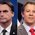 Ibope: Bolsonaro sobe 4 pontos e tem 31%; Haddad tem 21%
