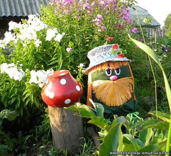 Как можно украсить садовый участок своими руками - Поделки