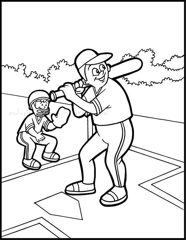 baseball coloring pages for preschoolers | Baseball Coloring Pages