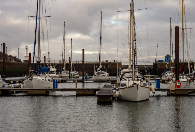 Photo of a cloudy sky over Maryport Marina this morning (Friday)