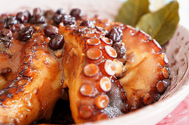 Octopus with Balsamic & Raisins