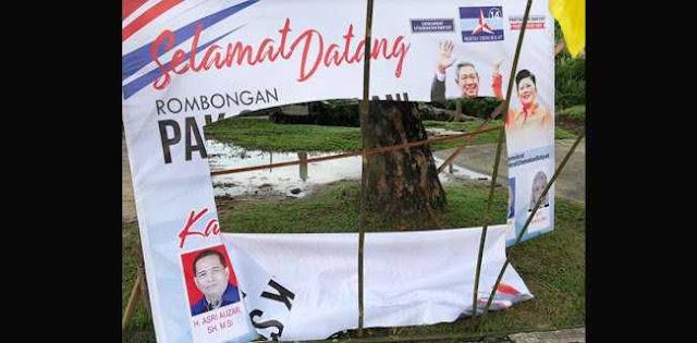 Pelaku Perusakan Atribut Demokrat Sudah Tertangkap, Andi Arief: Apa Motifnya?
