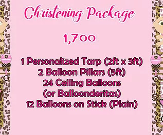 Christening Package 1,700
