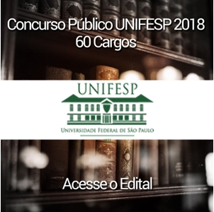 edital UNIFESP 2018