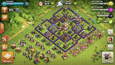 Tampilan Base Clash of Clans