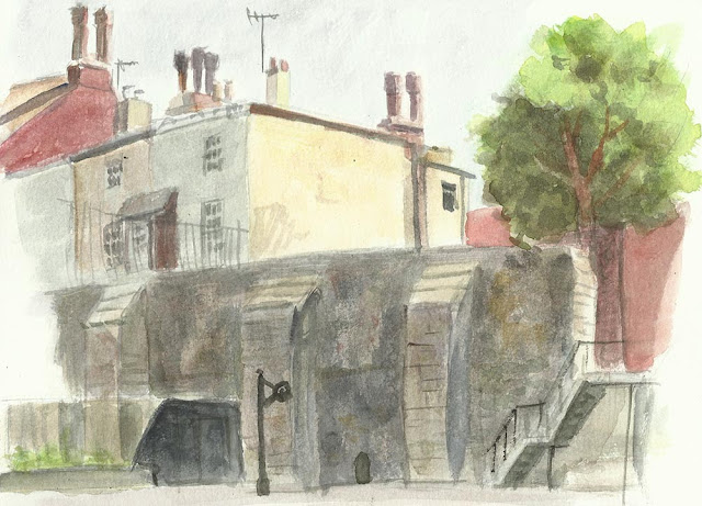 sketch city wall southampton