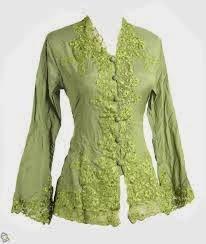 Contoh Model Baju Kebaya Menyusui Warna Hijau